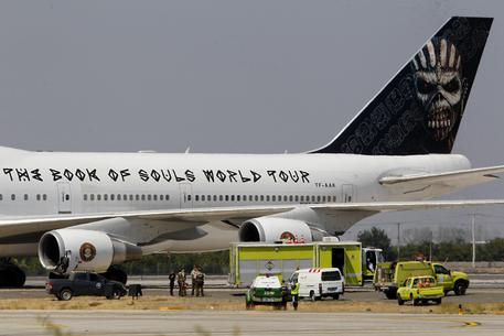 Chile Iron Maiden Plane © AP