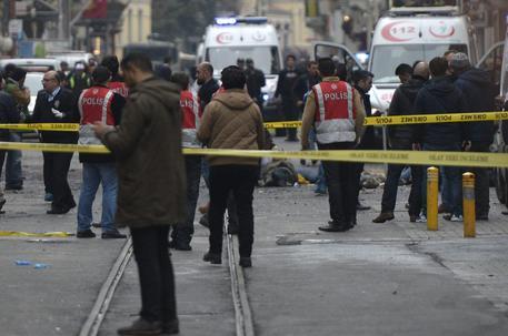 Il luogo dell'attentato terroristico a Istanbul © EPA
