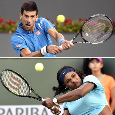Novak Djokovic e Serena Williamos © ANSA