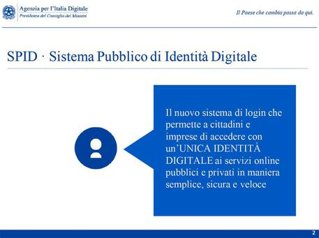 Le slide sull'dentita' digitale © ANSA