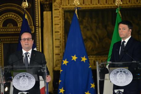 Renzi hosts Hollande in Venice for Italo-French summit © ANSA