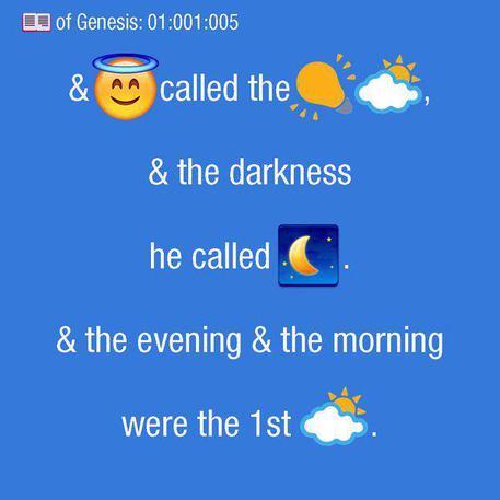 Su Twitter e iTunes arriva la Bibbia in emoji