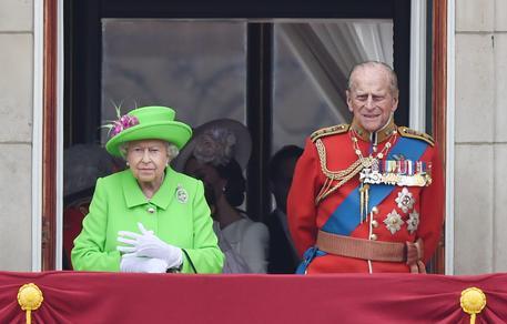 La regina Elisabetta II e il consorte, il principe Filippo Duca di Edimburgo © ANSA