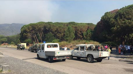 Incendio sul Vesuvio, brucia la zona di Terzigno