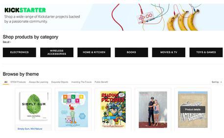 Amazon vende i prodotti delle startup in crowdfunding su Kickstarter