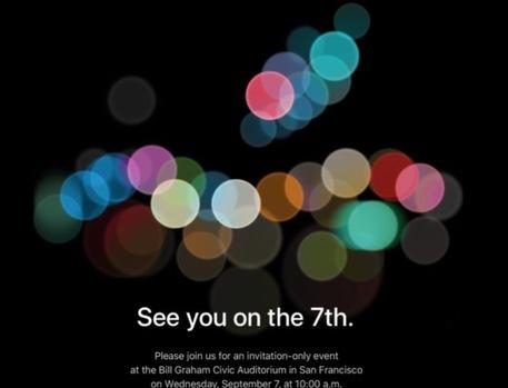 Lancio nuovo iPhone il 7 settembre, l'invito di Apple © Ansa