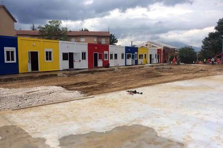 La nuova scuola di Amatrice nella frazione di Villa San Cipriano  realizzata dalla Provincia autonoma di Trento © ANSA
