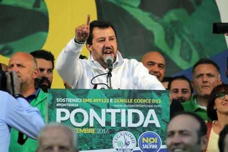 Matteo Salvini a Pontida © ANSA