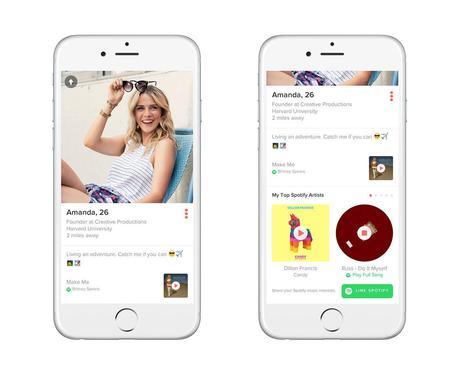 Su Tinder arriva la musica di Spotify