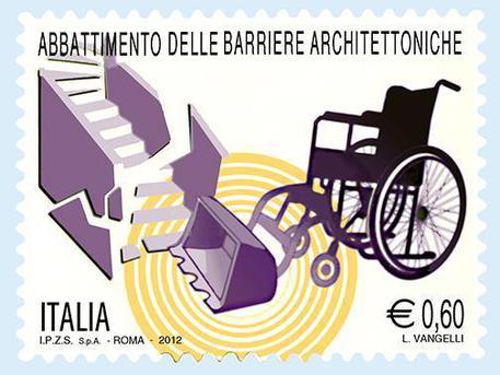 Francobollo contro le barriere architettoniche © ANSA