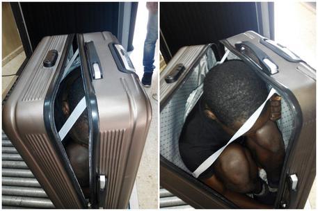 Spagna, arrestata mentre attraversa il confine con un migrante nella valigia