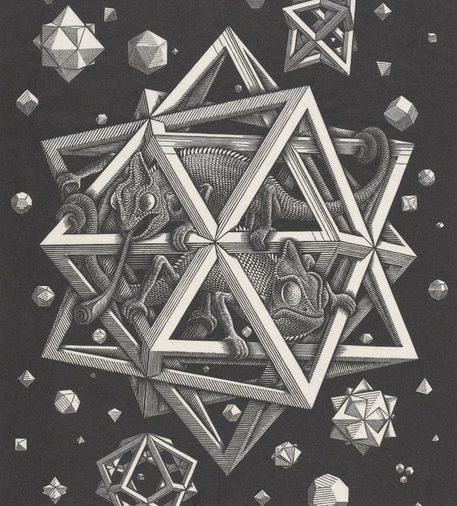 A pisa una selezione opere di escher arte for Quadri illusioni ottiche