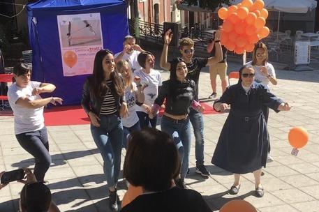 Flash mob contro tratta esseri umani