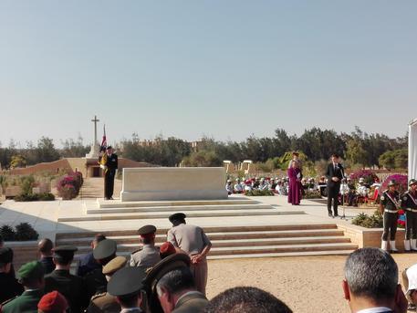 Risultati immagini per commemorazione ieri a el alamein