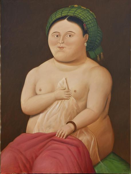 Venere e Cupido, una delle opere di Fernando Botero © ANSA
