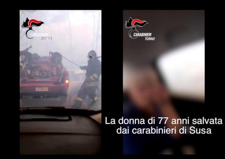 Emergenza incendi in Val di Susa