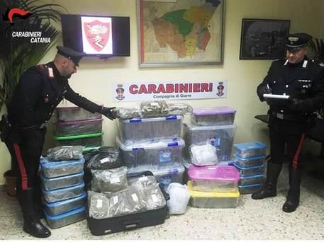 Arrestato a Riposto spacciatore con 47 kg di droga$