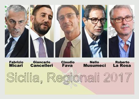Sicilia, Regionali 2017 (combo) © ANSA
