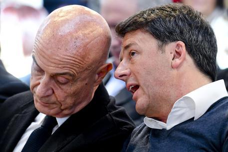 Marco Minniti e Matteo Renzi © ANSA