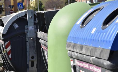 Cassonetti dei rifiuti, foto di archivio © Ansa