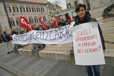 569a61ee99 Carige vola in Borsa, sciopero a Genova - Liguria - ANSA.it