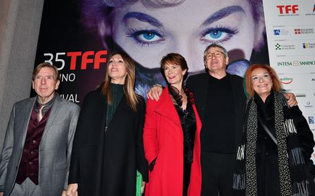 (L-R) Britain actor Timothy Spall, the President of the Cinema Museum of Turin Laura Milani, Britain actress Celia, Britain film director Richard Loncraine and the President of the Torino Film Festival, Emanuela Martini, © ANSA
