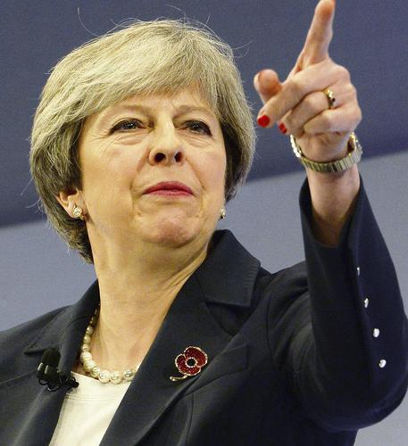 Theresa May in una recente immagine © AP