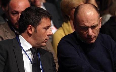 Matteo Renzi ed Enrico Letta in una foto d'archivio © ANSA