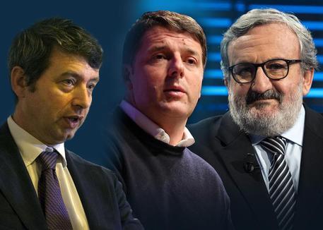Renzi, Orlando e Emiliano in un mese di sondaggi