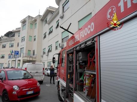 Incendio all'ospedale Evangelico di Voltri