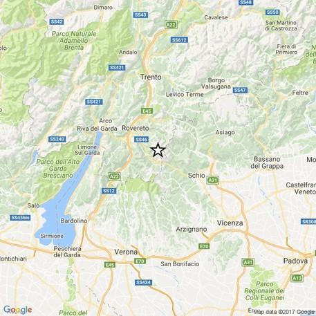 Terremoto, tremano Trentino e Veneto: scossa di magnitudo 3.6