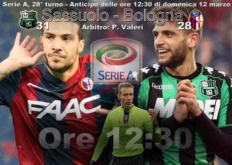 Sassuolo-Bologna 0-1, decide un gol di Destro su assist di Dzemaili