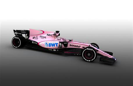 La Force India cambia look, nuova monoposto tutta rosa © ANSA