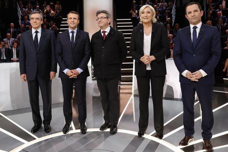 Il dibattito delle presidenziali su TF1 © EPA