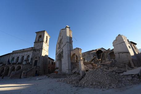 La Basilica di San Benedetto a Norcia in una foto di archivio © ANSA