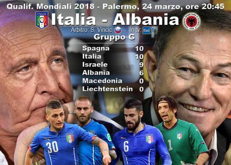 Italia-Albania, le probabili formazioni: Ventura verso il 4-2-4