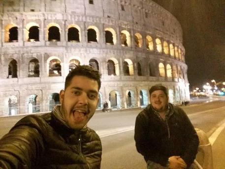 Mario Castagnacci, di 27 anni, e Paolo Palmisani (S), 20 anni, in una foto tratta dal pagina facebook 'la citta' di Alatri': per gli inquirenti sarebbero responsabili  dell'aggressione finale che ha causato la morte di Emanuele Morganti © ANSA