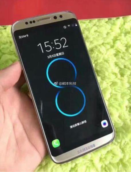 Clone cinese del Samsung Galaxy S8 (dal sito Weibo) © ANSA