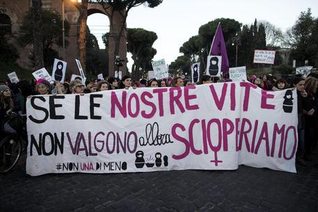 La protesta dell'8 marzo a Roma © ANSA