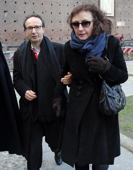 Roberto Benigni con la moglie Nicoletta Braschi © ANSA