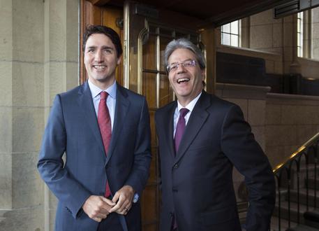 Gentiloni a Trudeau, condividiamo visione su diversi temi © ANSA