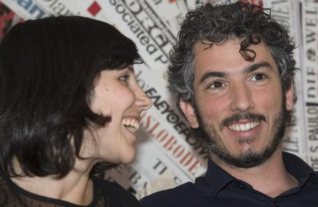Gabriele Del Grande e la sua compagna Alexandra D'Onofrio © ANSA