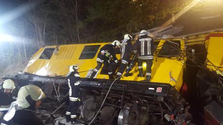 Incidente ferroviario a Bressanone. Foto Vigili del Fuoco © ANSA