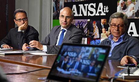 Luigi Contu, Fabrizio Curcio, Vasco Errani © ANSA