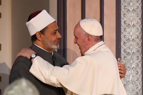 Papa Francesco con il Grande Imam © ANSA