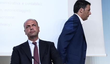 Matteo Renzi e Angelino Alfano in una foto d'archivio © ANSA
