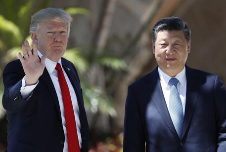 Donald Trump e Xi Jingping il 7 aprile scorso © AP