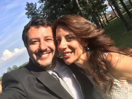 Matteo Salvini testimone di nozze al matrimonio della sorella Barbara