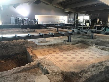 Mattarella in Umbria, visita sito archeologico Villa di Sant'Anna