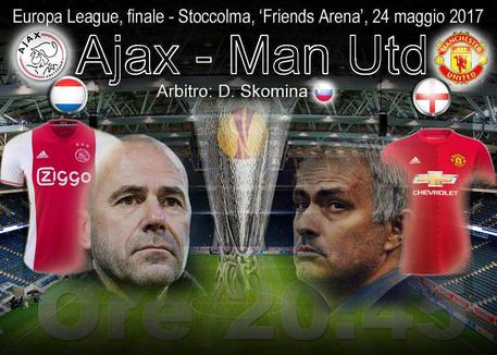 Finale Europa League: Ajax-Manchester United, le formazioni ufficiali